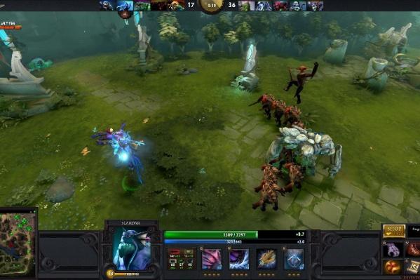 Скриншот момента игры Dota 2
