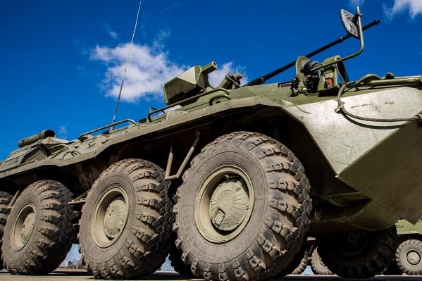 ДТП случилось сегодня утром на территории военного городка в Пашино, также известного как посёлок Гвардейский