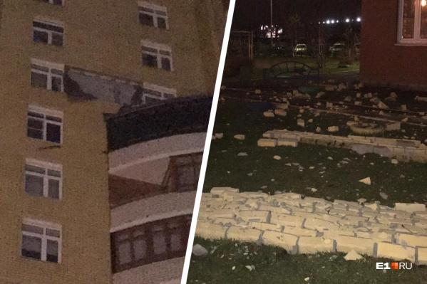 Стена обвалилась около часу ночи