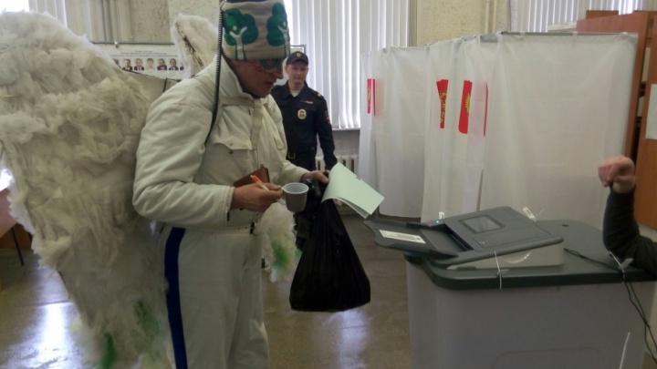 Древарх попытался «удобрить» избирательный участок в Архангельске конским навозом