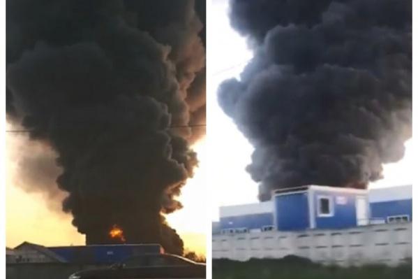Пожар в ангаре Кудьминской промзоны