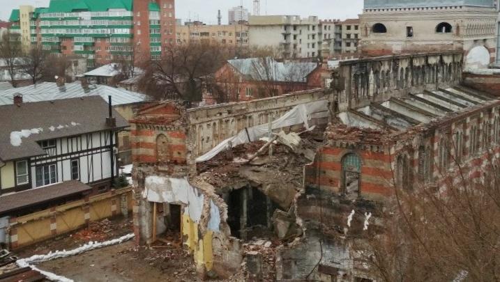 Разрушения ужасны: хоральную синагогу на Садовой сняли с высоты