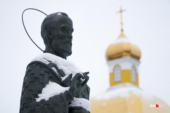 В Перми на Соборной площади уже стоит памятник Николаю Чудотворцу