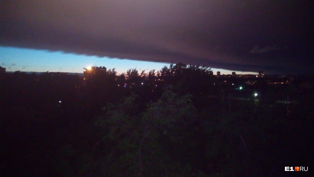 Вид с балкона на пересечении улиц Куйбышева и Восточной