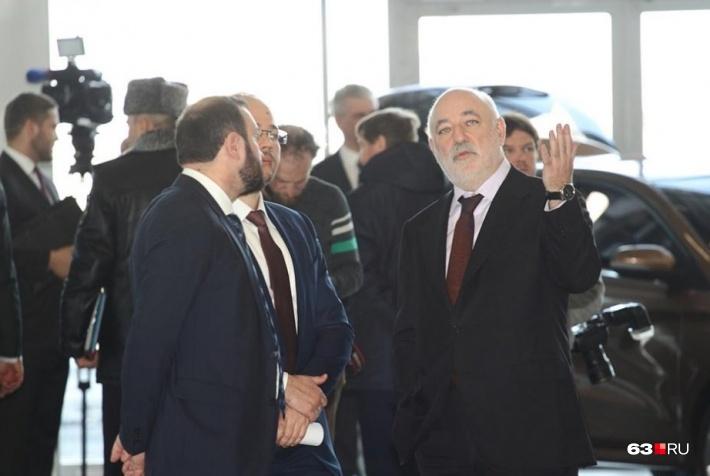 Вексельберг на открытии нового терминала в Курумоче
