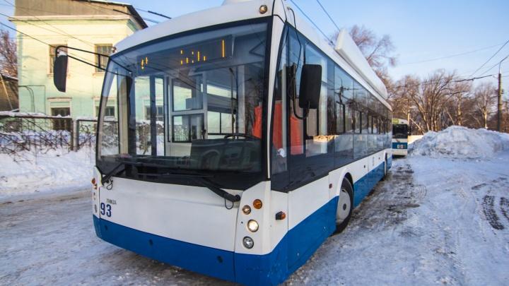 В Самаре сократили один троллейбусный маршрут