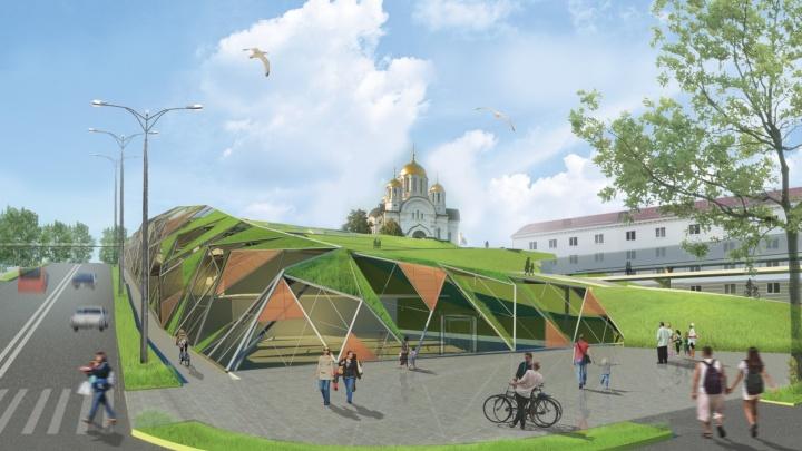 Строительство парка аттракционов хотят перенести со склона у площади Славы на стрелку рек