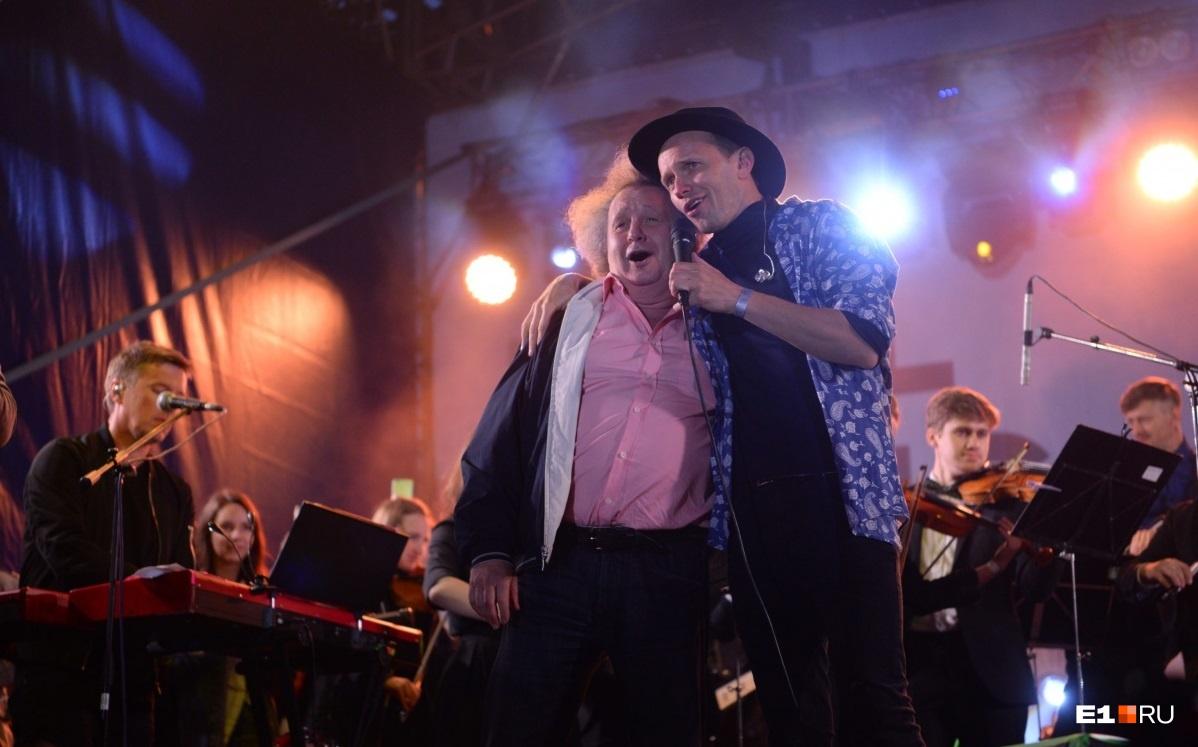 Евгений Горенбург и BrainStorm спели «Луч солнца золотого»