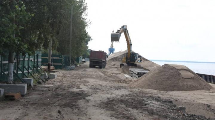 Нехватка денег стала причиной остановки реконструкции Набережной Седова в Соломбале