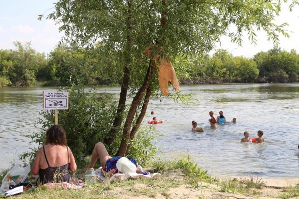 В Кургане есть только три пляжа, купаться на которых можно: Бабьи пески, Голубые озёра и пляж на бульваре Солнечном