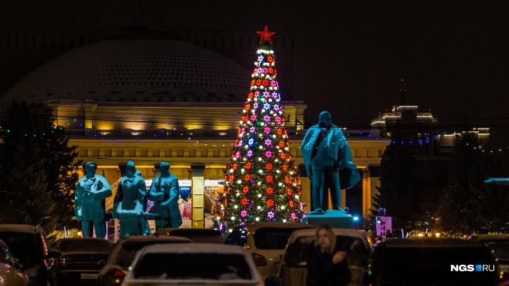 Сказочные арки, танцы на катке и фейерверки: как в Новосибирске открывали ледовый городок