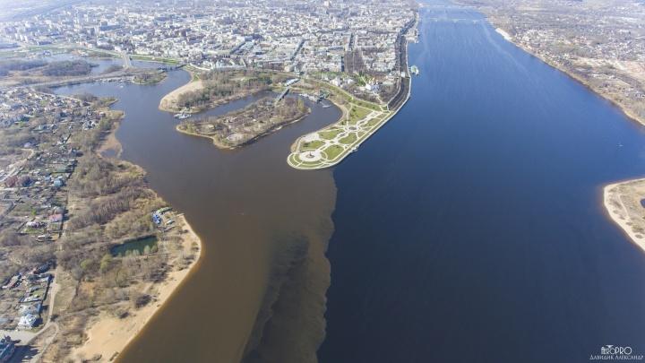 «Вода смывает берега»: географ объяснил необычное явление при слиянии Волги и Которосли