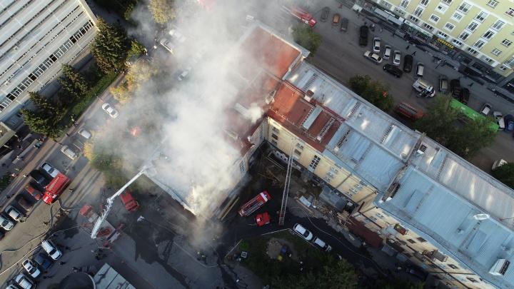 Спасатели потушили крупный пожар на Советской
