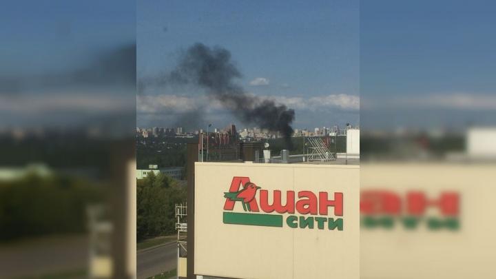 Горящий сентябрь: уфимцев насторожил черный столб дыма из парка Лесоводов