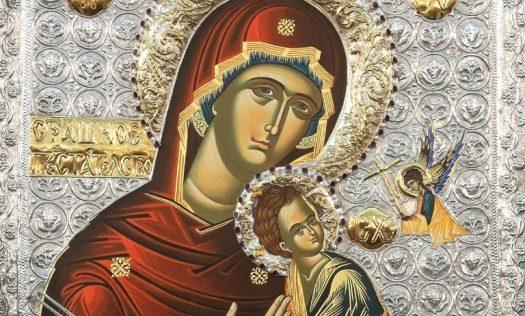 Постоянно эта икона хранитсяв Крестовоздвиженском монастыре