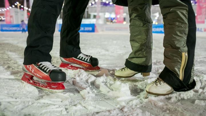 Карта самых популярных катков и лыжных баз Красноярска