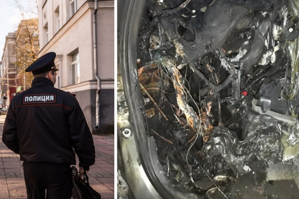Мужчина сжег личный автомобиль сотрудника ДПС