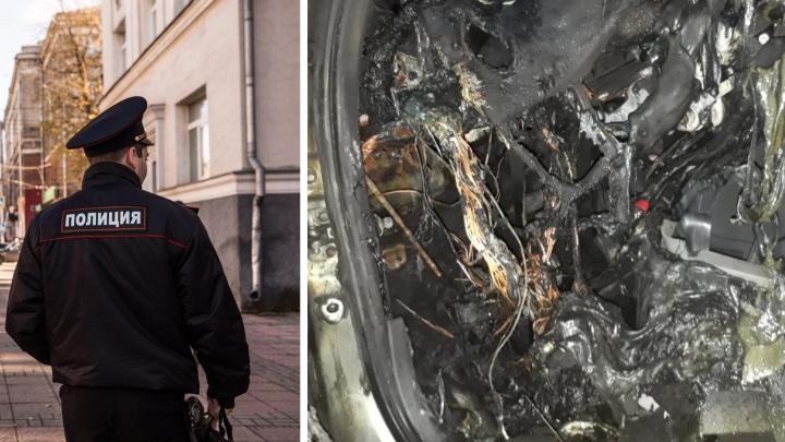 Сибиряк из мести сжёг личную машину полицейского