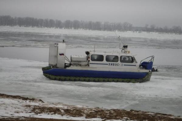 В Самаре по дороге в Рождествено загорелось пассажирское судно на воздушной подушке