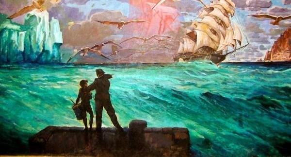 """Отряд """"Каравелла"""" собрался перенести в новое здание картину, которая нарисована прямо на стене"""