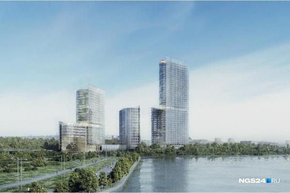 Так видят инвесторы будущий «Красноярск-Сити» на Стрелке