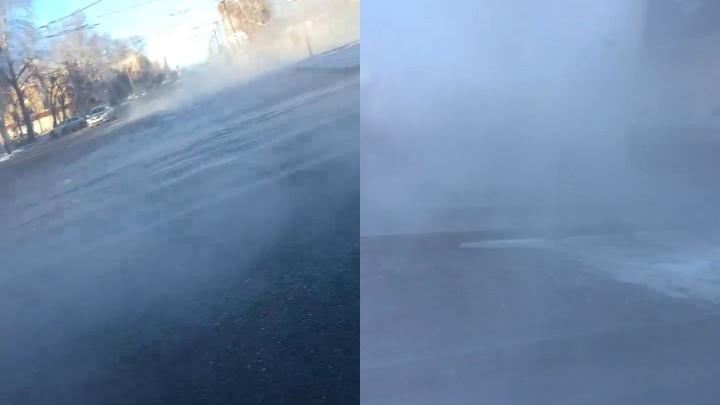 Из-за прорыва трубы в Металлургическом районе Челябинска в разгар морозов отключили отопление