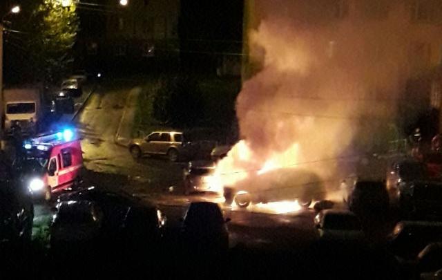 В Уфе ночью сгорели три иномарки