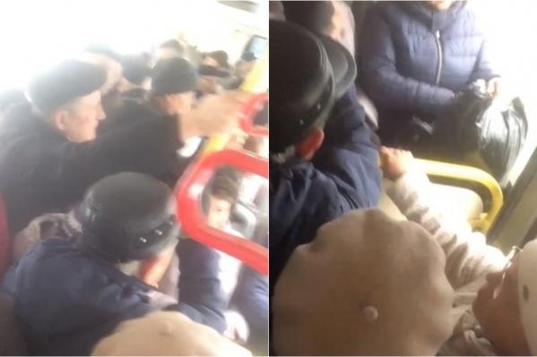 Этот видеоролик тюменец снял в субботу в автобусе № 100