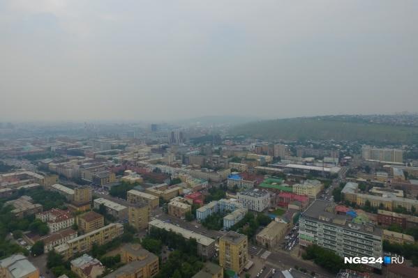 Красноярск в смоге летом 2018 года