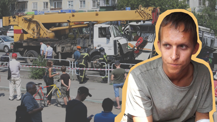 Водителя автокрана, задавившего мигранта и разбившего маршрутки в Челябинске, отдали под суд