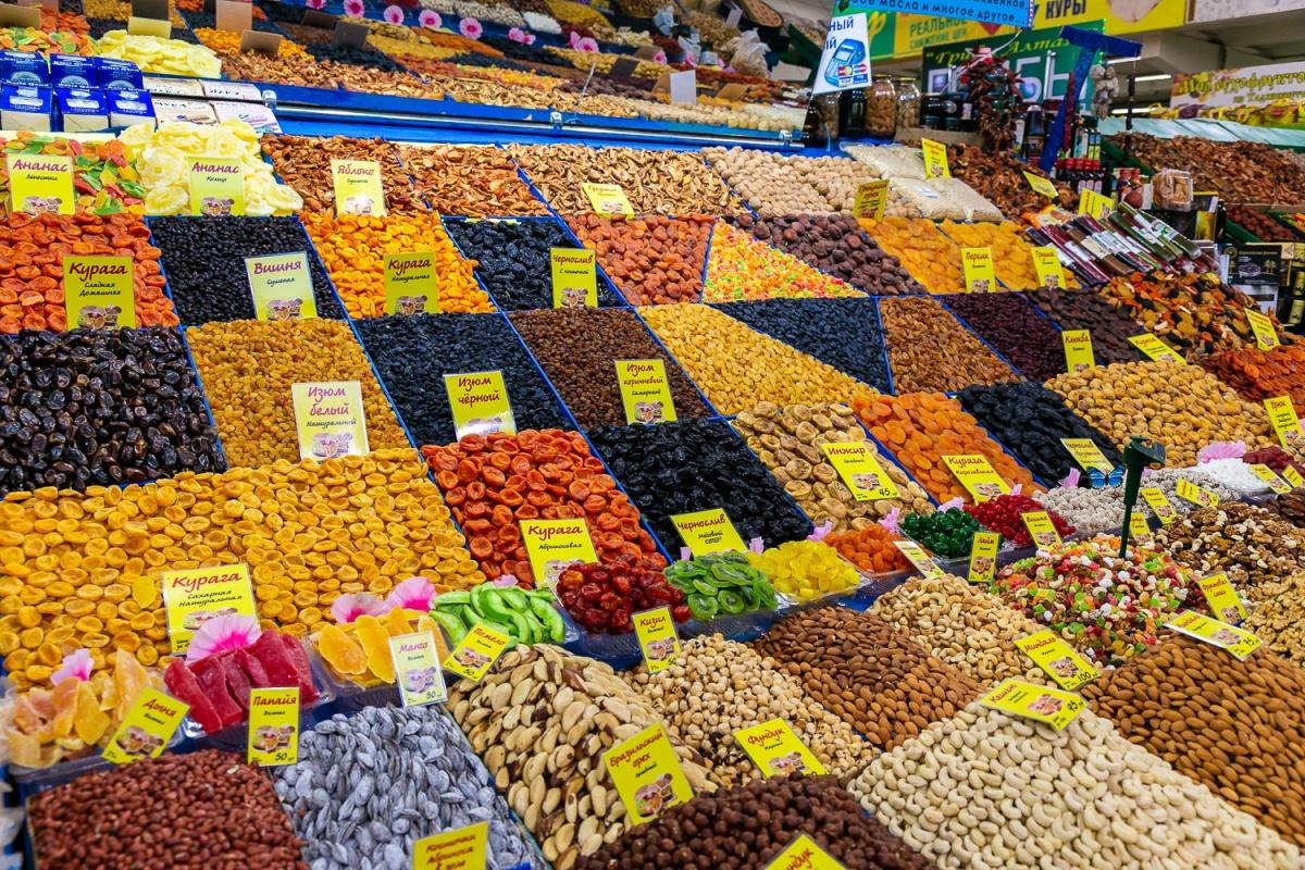 На Центральном рынке продают редкие орехи из Австралии, узбекский сахар и необычный десерт педо