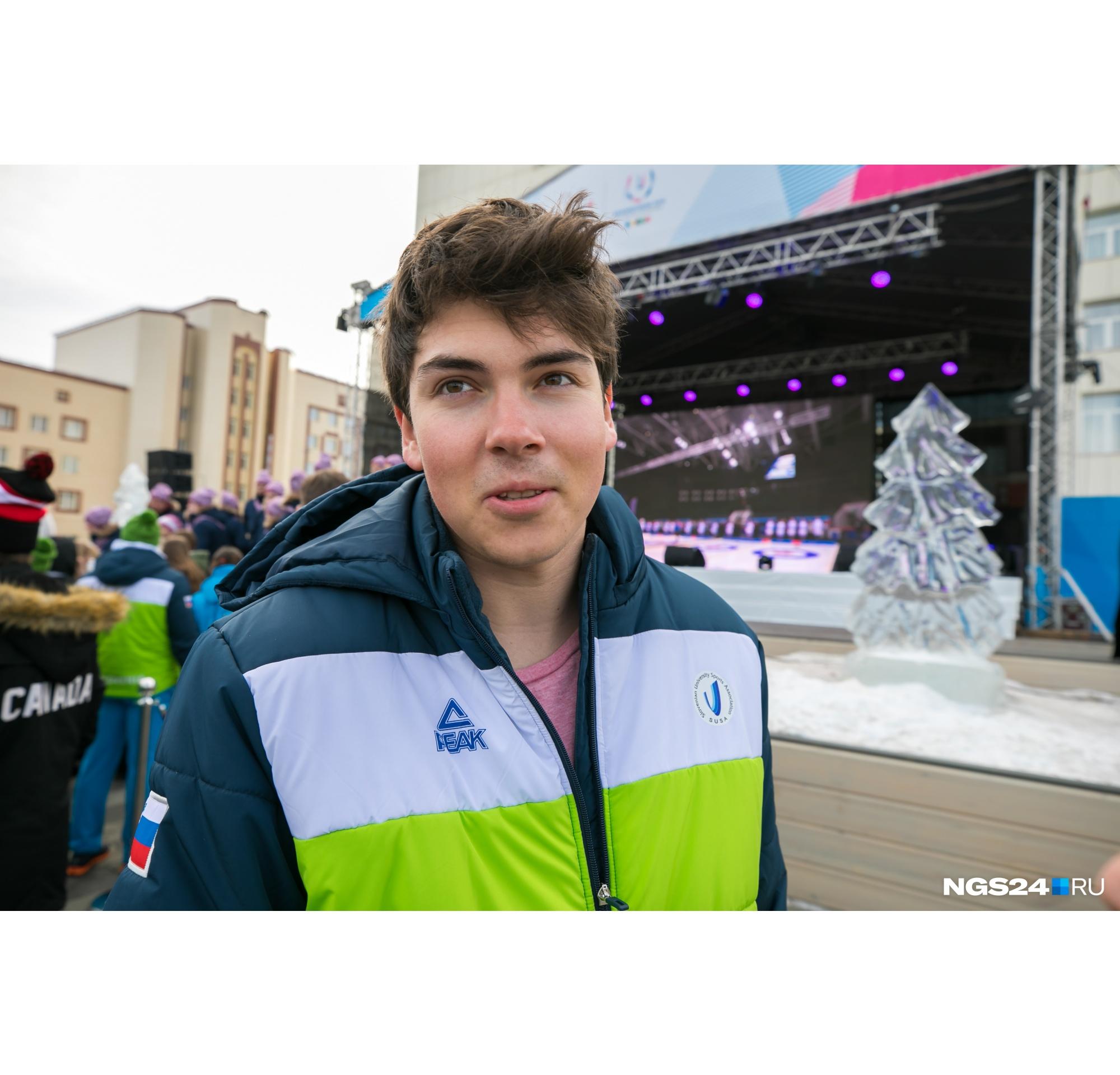 Спортсмен сборной Словении