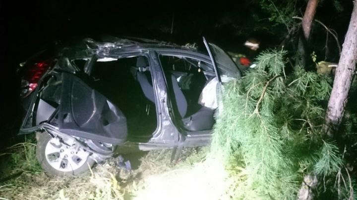 Пострадали 5 человек: в Самарской области Hyundai Solaris и ВАЗ-2112 улетели в кювет