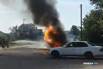 Взрыв произошел, когда отец открыл багажник