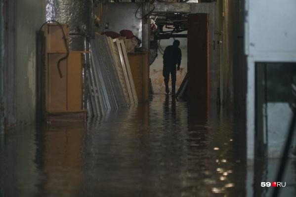 Так выглядел подвал больницы во время потопа