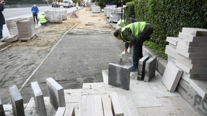 Высокинский пообещал, что гранитные плиты для улиц закупят зимой и строители начнут работать в мае