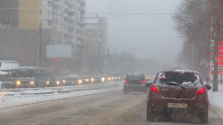 МЧС предупреждает жителей Самарской области о надвигающемся снегопаде