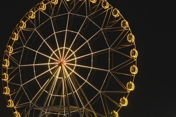 На колесе светят 946 тысяч люменов