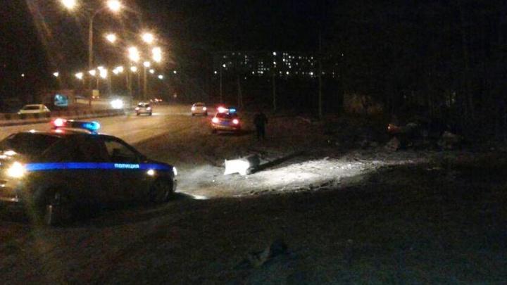 На Бердском шоссе перевернулась «Хонда»: водитель погиб