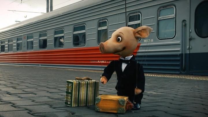 «Белое море и правда белое»: саратовские кукольники сняли видео о поморских приключениях поросёнка