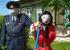 На Урале поставили огородное чучело в виде доброго полицейского