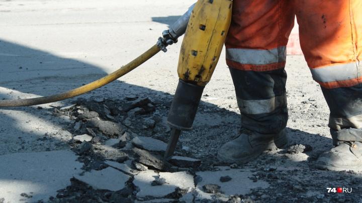 Строго по предписанию: в Челябинске возобновили ямочный ремонт дорог