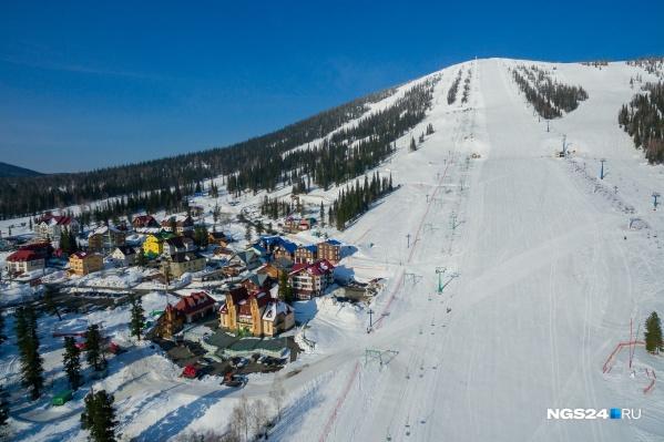 Красноярские горнолыжники очень любят кататься в Шерегеше