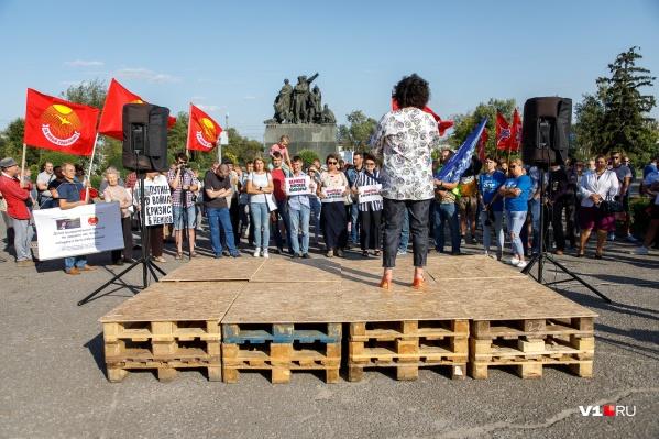 Митинг не прошедшего «фильтры» кандидата в губернаторы собрал около 90 человек