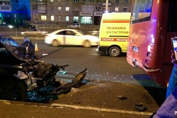 Авария случилась 23 ноябрярядом с улицей Гагарина