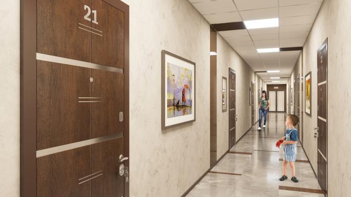 В новом доме на Бориса Богаткова сделали литературный декор и зоны отдыха на всех 25 этажах
