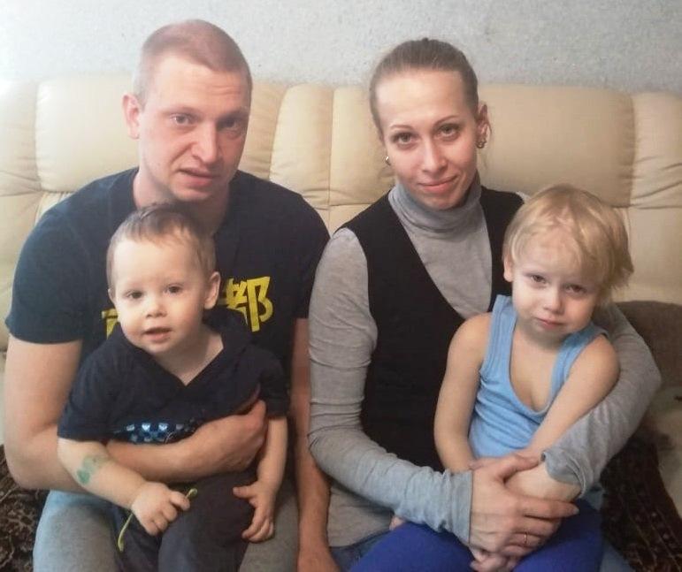Антон и Екатерина с сыновьями