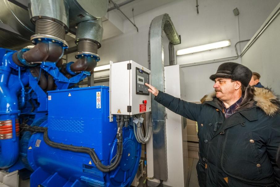 Дизель-генератор выходит на полную мощность в течение трёх минут