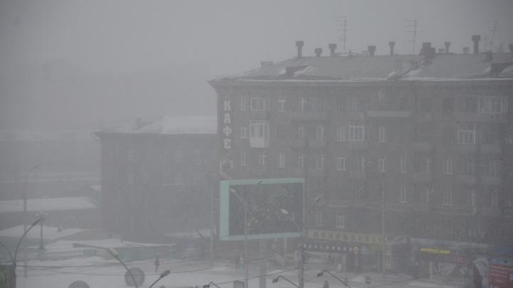 Новосибирцы получили SMS с предупреждением о ночном снегопаде с сильным ветром