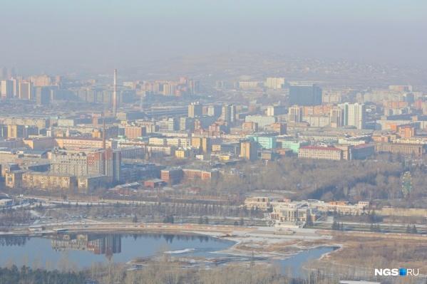 К 2024 году объем выбросов загрязняющих веществ в Красноярске планируется уменьшить на 22,33%